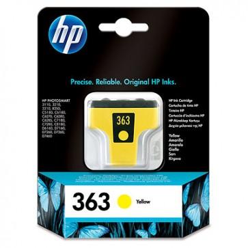 Cartucho de tinta original HP 363 amarillo