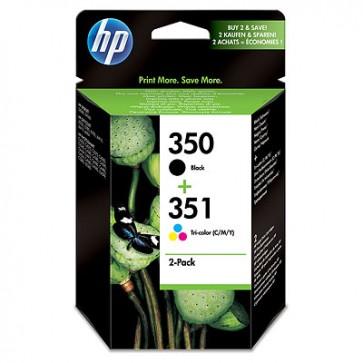 Pack de ahorro de 2 cartuchos de tinta original HP 350 negro/351 tricolor