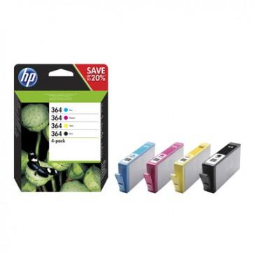 Pack de ahorro de 4 cartuchos de tinta original HP 364 negro/cian/magenta/amarillo