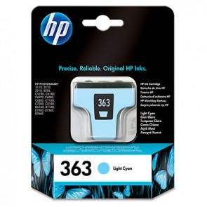 Cartucho de tinta original HP 363 cian claro