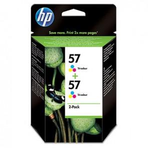 Pack de ahorro de 2 cartuchos de tinta original HP 57 Tri-color