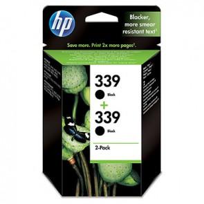 Pack de ahorro de 2 cartuchos de tinta original HP 339 negro