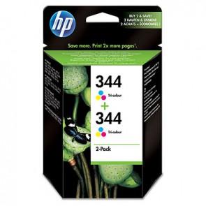 Pack de ahorro de 2 cartuchos de tinta original HP 344 Tri-color