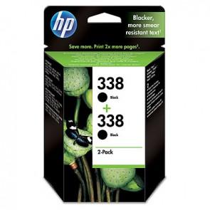 Pack de ahorro de 2 cartuchos de tinta original HP 338 negro