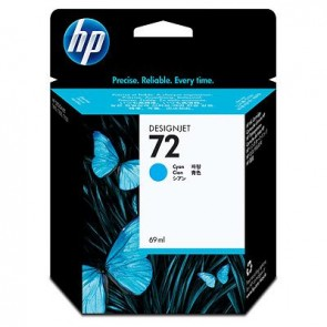 Cartucho de tinta DesignJet HP 72 cian de 69 ml