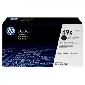 Pack de ahorro de 2 cartuchos LaserJet HP 49X de alta capacidad negro