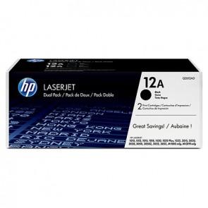 Pack de ahorro de 2 cartuchos de tóner original LaserJet HP 12A negro