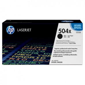 Cartucho de tóner original LaserJet HP 504X de alta capacidad negro