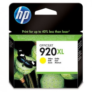 Cartucho de tinta original HP 920XL de alta capacidad amarillo