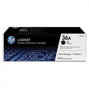 Pack de ahorro de 2 cartuchos de tóner original LaserJet HP 36A negro