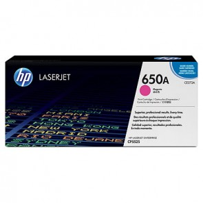 Cartucho de tóner original LaserJet HP 650A magenta