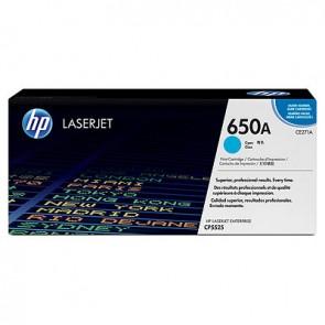 Cartucho de tóner original LaserJet HP 650A cian