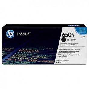 Cartucho de tóner original LaserJet HP 650A negro