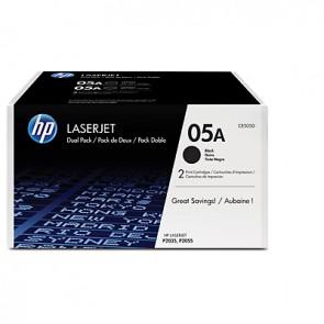 Pack de 2 cartuchos de tóner originales HP 05A LaserJet negro
