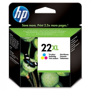 Cartucho de tinta original HP 22XL de alta capacidad Tri-color