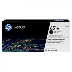 Cartucho de tóner original LaserJet HP 651A negro