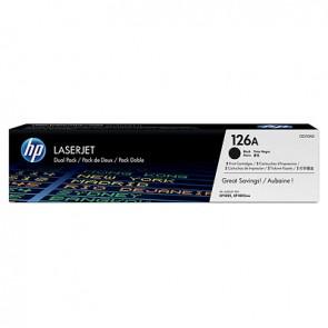 Pack de ahorro de 2 cartuchos de tóner original LaserJet HP 126A negro