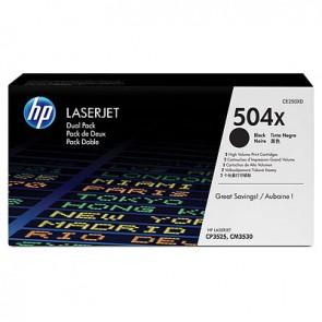 Pack de ahorro de 2 cartuchos de tóner original LaserJet HP 504X de alta capacidad negro