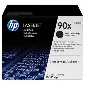 Pack de ahorro de 2 cartuchos de tóner original LaserJet HP 90X de alta capacidad negro