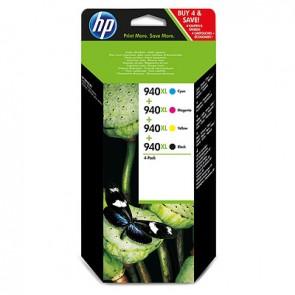 Pack de ahorro de 4 cartuchos de tinta original HP 940XL de alta capacidad negro/cian/magenta/amarillo