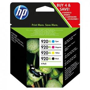 Pack de ahorro de 4 cartuchos de tinta original HP 920XL de alta capacidad negro/cian/magenta/amarillo