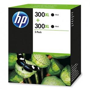 Pack de 2 cartuchos de tinta original HP 300XL de alta capacidad negro