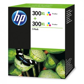 HP 300XL 2-pack High Yield Tri-color Original Ink Cartridges