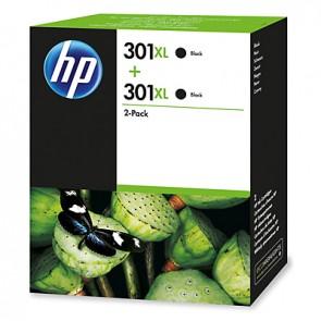 Pack de 2 cartuchos de tinta original HP 301XL de alta capacidad negro