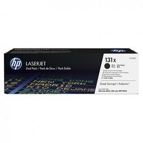 Pack de ahorro de 2 cartuchos de tóner original HP 131X LaserJet de alta capacidad negro