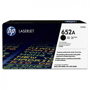 Cartucho de tóner original LaserJet HP 652A negro