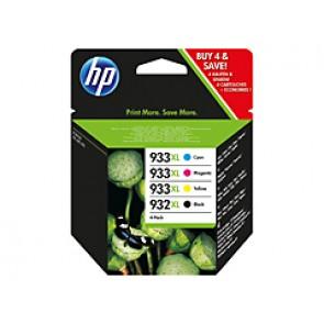 Pack de ahorro de 4 cartuchos de tinta original HP 932XL negro/933XL cian/magenta/amarillo