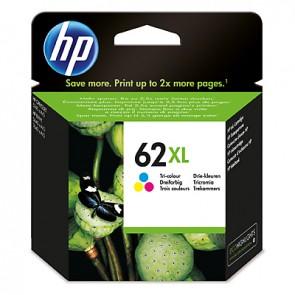 Cartucho de tinta original HP 62XL de alta capacidad tricolor