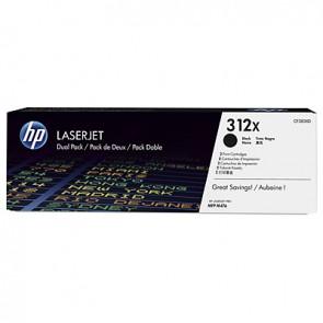 Pack de ahorro de 2 cartuchos de tóner original LaserJet HP 312X de alta capacidad negro