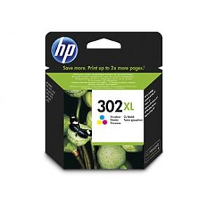 Cartucho de tinta original HP 302XL de alta capacidad tricolor