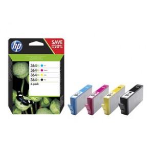 Pack de ahorro de 4 cartuchos de tinta original HP 364XL de alta capacidad negro/cian/magenta/amarillo