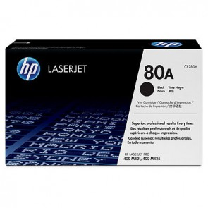 Cartucho de tóner original LaserJet HP 80A negro