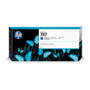 HP 747 300ml Azul cartucho de tinta P2V85A