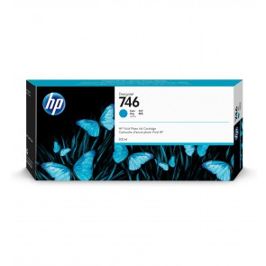 HP 746 300ml Cian cartucho de tinta P2V80A
