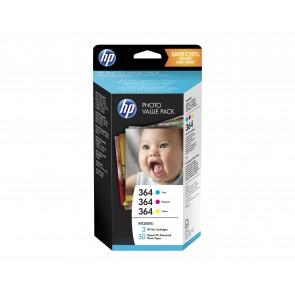 HP Paquete de ahorro fotográfico de la serie 364 de 50 hojas/10 x 15 cm T9D88EE
