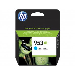 HP Cartucho de tinta Original 953XL de alto rendimiento cian F6U16AE