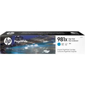 HP Cartucho original PageWide 981X cian de alto rendimiento L0R09A