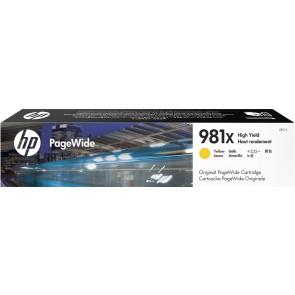 HP Cartucho original PageWide 981Y cian de alto rendimiento L0R13A