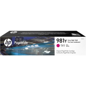 HP Cartucho original PageWide 981Y magenta de alto rendimiento L0R14A