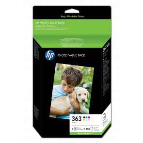 HP Paquete económico fotográfico serie 363 - 150 hojas/10 x 15 cm Q7966EE