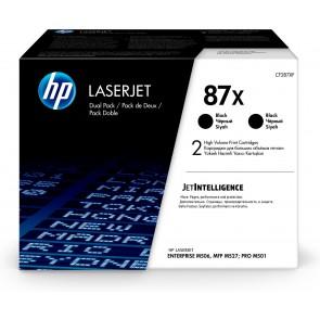 HP Paquete de 2 cartuchos de tóner negro Originales LaserJet 87X de alta capacidad CF287XD