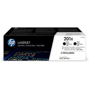 HP Paquete de 2 cartuchos de tóner negro Originales LaserJet 201X de alta capacidad CF400XD