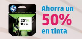 Ahorra un 50% en tinta original HP XL